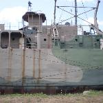 Part of side of ship