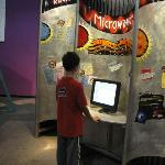 Checking out the microwave exhibit