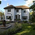 An impressive thatched villa