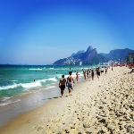 5 min walk to Ipanema beach (this photo) or to Copacabana