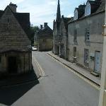 Over-looking the quite road below