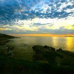 walker bay at sunset