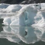 Ice at the Pederson Glacier upper lagoon