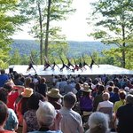 Free outdoor dance performances Wednesday-Sunday evenings during the Festival