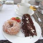 The best donut ever! And the chocolate cake was amazing