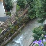 Stream running under our terrace