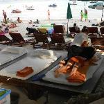 massaggio sulla spiaggia