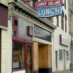 The outside view of 'downtown' Shamokin, not too pretty, go inside to the Lunchenette & get burg