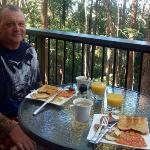 breakfast on the deck...close to nature