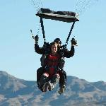 Skydive Wedding: The Bride and Groom land safely down