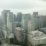 westside view from Dynasty suite, Tokyo station and Marunouchi business center bills.