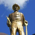 Iron Man - representing the Iron Range workers