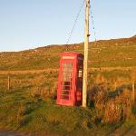 phone box near Castle Sween