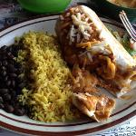 Burito dinner at Cactus Cafe