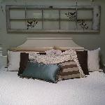 Tuscan suite (king sized bed). Suite also has sauna, coffee station, patio, and back porch