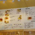 Partial view of their menu