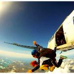 free falling 15000ft over the Algarve