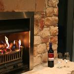 Romantic fire flickering