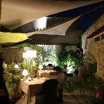 Le patio la nuit