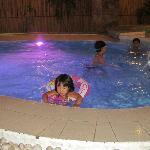 aud mona enjoying their pool