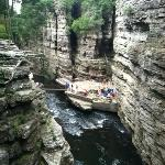 Ausable chasm. rafting point