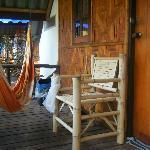 Terraza de la cabaña