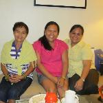 mama fina, me and ate lor at my room
