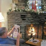 Nice fire to read by
