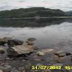 View across loch in front of Hotel