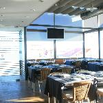 The inner dinning room, welcoming our guests and the sun.