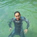 Pulau Sembilan - Having a swim after a dive.
