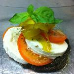 caprese with fennel marmalade