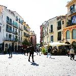 Salerno Centro Bed and Breakfast, the square where we are, the most central point of Salerno!