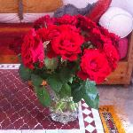 My birthday flowers from the Riad.