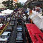 The congested Tuanku Abdul Rahman Road at Chow Kit during peak hours during fasting month.