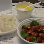 My lunch General Tso's Chicken & Egg Drop Soup