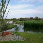 Del lago golf course steps away from restaurant