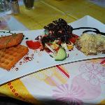 Steak mit Würzfleisch (leider mit viel Mehl angerührt)