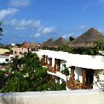 View of palapa huts on other rooms