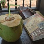 Maadathil Cottages - fresh coconut and a wonderful read