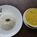 Maadathil Cottages - dal and rice