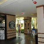 Lobby area - with Starbucks