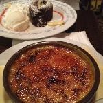 creme brûlé & chocolate soufflé