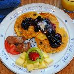 Lemon Blueberry Cornmeal Pancakes are a favorite breakfast