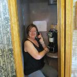 Loved the phonebooth!