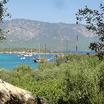 View at Cleopatra Island - gulet cruise