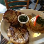 grilled pork chops with Mofongo