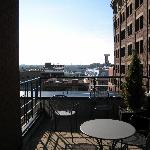 Huge patio with our suite