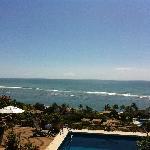Vista do deck piscina