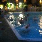 blurrey pool at nite